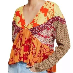 NWT Free People Aloha State of Mind Top Blouse M